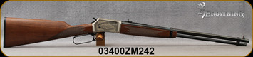 """Consign - Browning - 22S/L/LR - BL-22  Deluxe - Lever Action Rimfire Rifle - Straight-Grip Black Walnut Stock/Engraved Satin Nickel Receiver/Blued, 20""""Round Barrel - Only 10 rounds fired"""