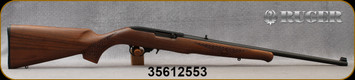 """Consign - Ruger - 22LR - Model 10/22 Talo Exclusive - French Walnut w/Basket Weave checkering/Blued, 20""""barrel, Iron sights - unfired"""