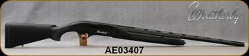 "Used - Weatherby - 20Ga/3""/26"" - SA-08 - Black Synthetic/CNC machined aircraft grade aluminum receiver/Blued Finish, Vent-Rib Barrel, c/w 3 chokes(F,M,IC), manual & lock"
