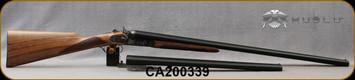 "Huglu - 12Ga/3""/30"" & 20"" - 201HRZ - Sidelock Hammer Gun - 2 Barrel Set - Double Trigger SxS - Grade AA Turkish Walnut English Grip/Case Hardened/Chrome-Lined Barrels, SKU: 86817443089392BE, S/N CA200339"