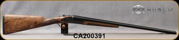 "Huglu - 20Ga/3""/26"" - 200AC - SxS Single Trigger - Grade AA+ Turkish Walnut English Grip Stock/Case Hardened Receiver w/Gr5 Hand Engraving/Blued Barrels, 5pc. Mobile Choke, SKU# 8681715398297-2, S/N CA200391"