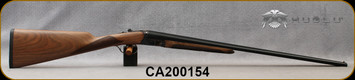 "Huglu - 410/3""/26"" - 200A Mini - SxS Single Trigger - Grade AA Turkish Walnut English Grip Stock/Case Hardened Receiver/Chrome-Lined Barrels, F,M Chokes, SKU# 8681715398167-2, S/N CA200154"