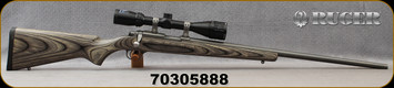 """Consign - Ruger - 17HMR - Model 77/17 All Weather Laminate - Grey Laminate Stock/All Weather Stainless, 24""""Barrel, Stainless rings, Bushnell Banner Dusk & Dawn, 4-12x44mm, Multi-X Reticle - Very low rounds fired"""