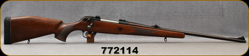 """Consign - Voere - 9.3x62 - Model HDF Titan - Checkered Dark Walnut Stock w/Monte Carlo cheekpiece/Blued, 24""""Barrel, Factory Sights, Universal Recoil Pad - low rounds fired"""