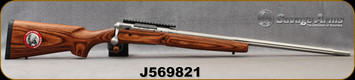 """Consign - Savage - 243Win - Model 12 Varminter Low-Profile - Brown Laminate Stock/Stainless, 26""""Fluted Barrel, AccuTrigger, Weaver Rail, 200rds fired - c/w Dies, 200pcs asst.brass"""