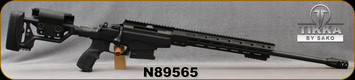 """Used - Tikka - 6.5Creedmoor - T3x Tact A1 - Bolt Action Chassis Rifle - Black Modular Chassis, Foldable Stock/Black Steel, 24""""Threaded(MT5/8-24)Barrel, 10rd Detachable Magazine - only 300rds fired - in Explorer Soft Case/Tikka Hard case"""