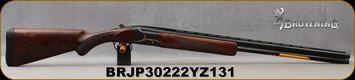 "Browning - 20Ga/3""/28"" - Citori Gran Lightning - O/U - Oil finish, Grade V/VI walnut, lightning-style stock/Gold Accent, Intricately Engraved Receiver/Polished Blued Barrels, Extended Midas Grade choke, Mfg# 018117604, S/N BRJP30222YZ131"