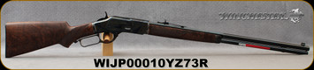 """Winchester - 45Colt - Model 1873 Deluxe Sporting 1/2 Octagon - Lever Action Rifle - Grade VI Black Walnut Stock/Case Hardened Steel Receiver/Blued, 24""""Half Octagon, Half Round, Button Rifled Barrel, 14 round Capacity, Mfg# 534259141, S/N WIJP00010YZ7"""