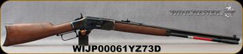 "Winchester - 44-40Win - Model 1873 Sporter CH - Grade III Walnut Straight-Grip/Case Hardened Receiver/Blued, 24"" Octagon Barrel/Full Length Mag Tube, Gold Bead Front/Semi-Buckhorn Rear sights, 13rd capacity, Mfg# 534217140, S/N WIJP00061YZ73D"