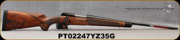 "Winchester - 6.5Creedmoor - Model 70 Super Grade AAA French - Bolt Action Rifle - Grade AAA French Walnut w/Shadowline cheekpiece/Polished Blued Finish, 22"" Barrel, 4 Round Hinged Floorplate, Adjustable Trigger, Mfg# 535239289, S/N PT02247YZ35G"