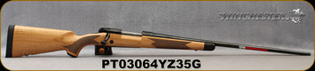 "Winchester - 264WM - Model 70 Super Grade Maple - Bolt Action Rifle - Grade AAA Tiger Maple Walnut Stock/Polished Blued, 26""Barrel, 3 Round Hinged Floorplate, Mfg# 535218229, S/N PT03064YZ35G"