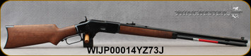 "Winchester - 45Colt - Model 1873 Sporter Octagon Pistol Grip - Lever Action - Grade II/III Black Walnut/Polished Blued Finish, 24""Full Octagon Barrel, 14rd Full-Length Tube Magazine, Mfg# 534229141, S/N WIJP00014YZ73J"