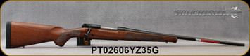 """Winchester - 264WM - Model 70 Featherweight - Satin finish walnut stock w/classic Featherweight cut checkering & Schnabel fore-end/Blued, 24""""Free-floating Featherweight profile barrel, Mfg# 535200229, S/N PT02606YZ35G"""
