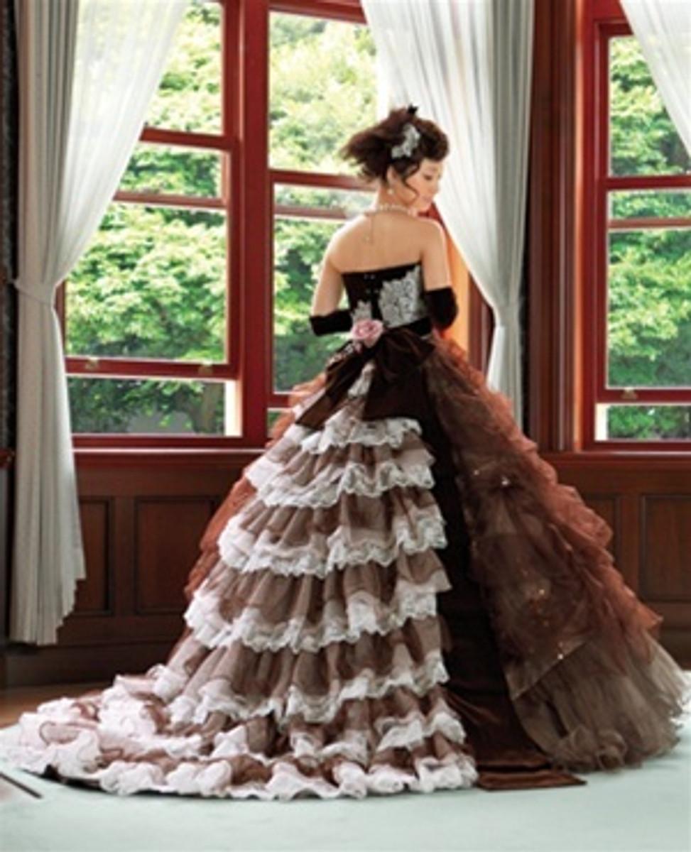 Chocolate Brown Wedding Dress