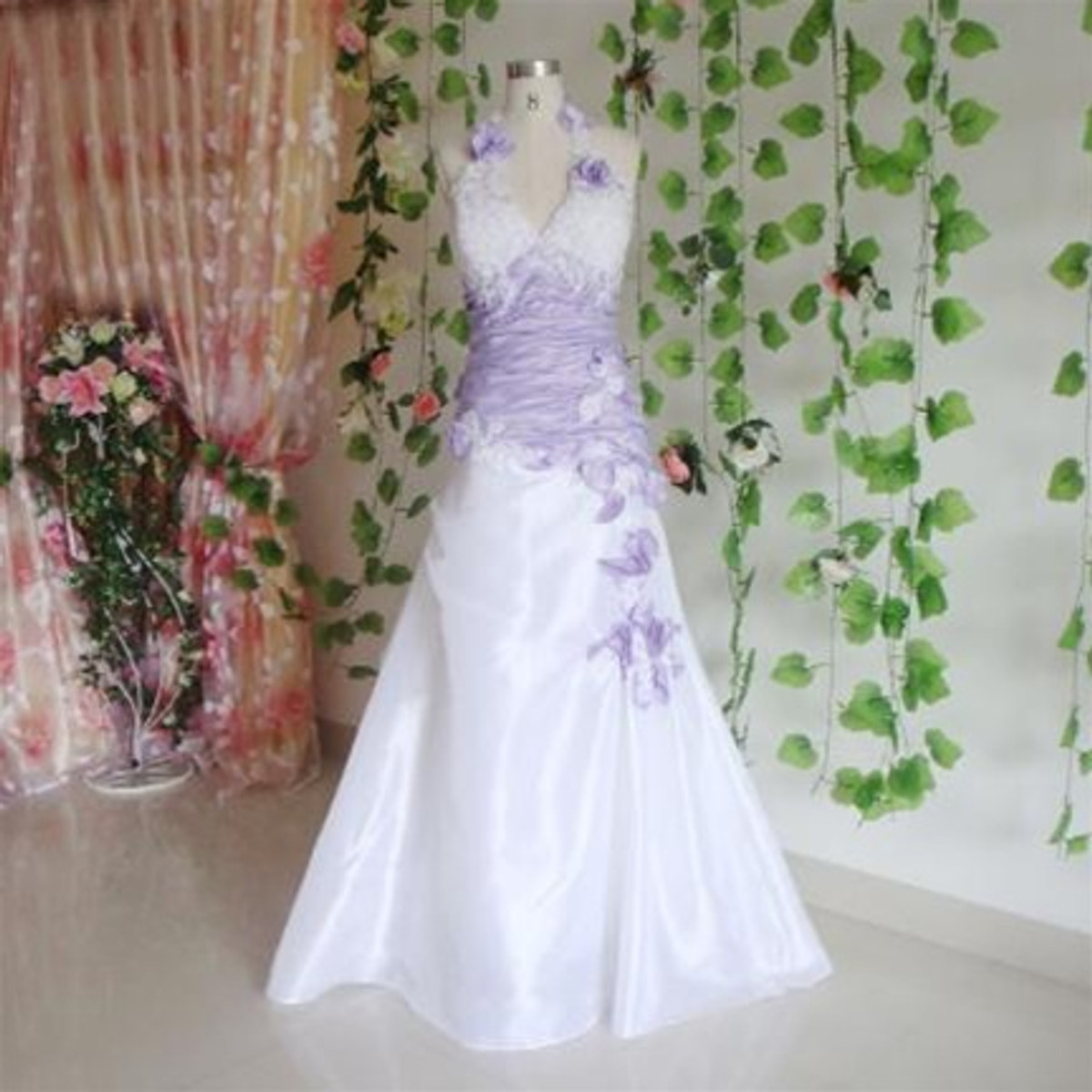 Purple Wedding Dress, Lavender Wedding Dress