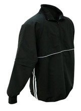 Black Jacket with Black and White Trim