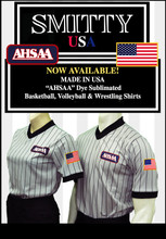 AHSAA (Alabama) Grey V-Neck Shirt with Black Pinstripe-Men and Women