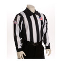 "SCFOA Smitty Made in USA Mens 2 1/4"" Black and White Striped Football Referee Shirt-Long Sleeve"