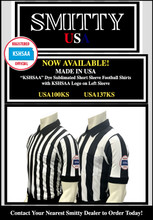 "2 1/4"" Stripes KSHSAA (Kansas) Logo Football Shirt"