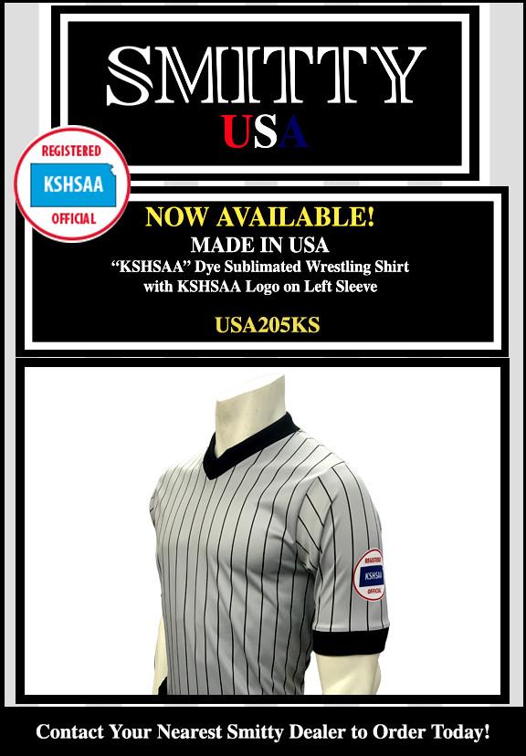 KSHSAA (Kansas) Wrestling Referee Shirt-Short Sleeve - Get Official ... 66287f439ee