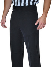 Smitty 4-Way Stretch Black Flat Front Referee Pans with Western Cut Pockets