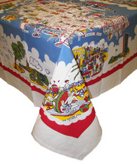Moda American Wonderland USA Map Cotton Tablecloth