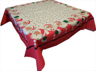 Moda Santa Claus Red Cotton Tablecloth