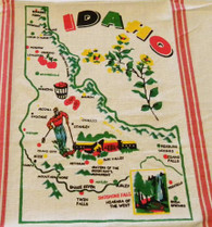 RWK Idaho State Cotton Flour Sack Towel