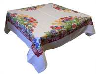 RWK Tulips Cotton Tablecloth