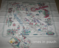 "Moda California State Cotton Tablecloth 52"" Square"