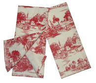 Pair of Red Toile Towels