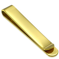 Quality Stainless Steel Gold Color Tie Clip