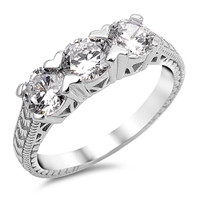 Sterling Silver With Cubic Zirconia Promise Ring