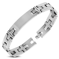 10mm Personalized Stainless Steel ID Bracelet - Free Engraving