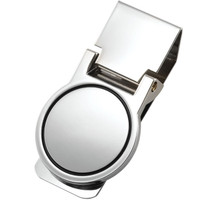 Personalized Round Quality Folding Money Clip