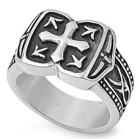 Personalized Stainless Steel Men's Ring - Free Engraving