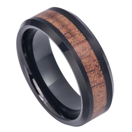Engraved Tungsten Ring