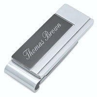 Personalized Quality Stainless Steel Two Tone Money Clip