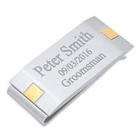 Quality Stainless Steel Two Tone Brushed Money Clip