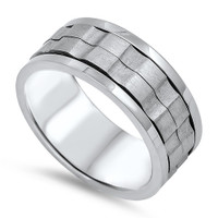 Personalized 9mm Stainless Steel Spinner Ring