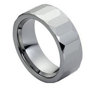 Tungsten Carbide Faceted Polished Shiny 8mm