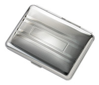 Quality Pocket-Size Double Sided Silver Cigarette/Card