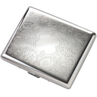 Quality Pocket-Side Silver Double Sided Cigarette/Card Case