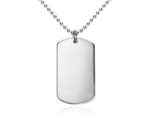 Personalized Sterling Silver Dog Tag Free Engraving