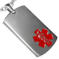 Stainless Steel High Quality Medical ID Pendant Tag
