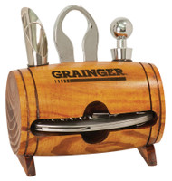 Personalized Barrel 4-Piece Wine Tool Set