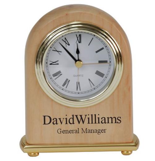 engraved clock