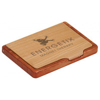 Personalized  Maple / Rosewood Business Card Holder