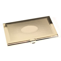 Personalized Gold Plated Business Card Holder
