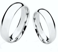 Personalized Sterling Silver Wedding Band  Ring Set